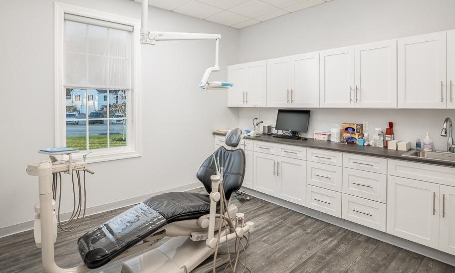 Treatment room in modern dental office in Northborough